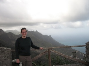 Brooke on a promontory in Tenerife