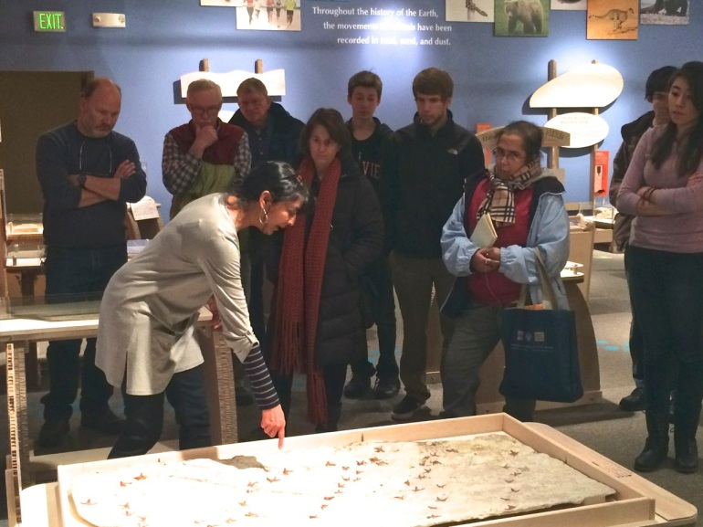 Dr. Karen Chin and docents