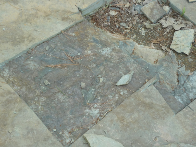 Nash - quarry footprint and pieces taken out