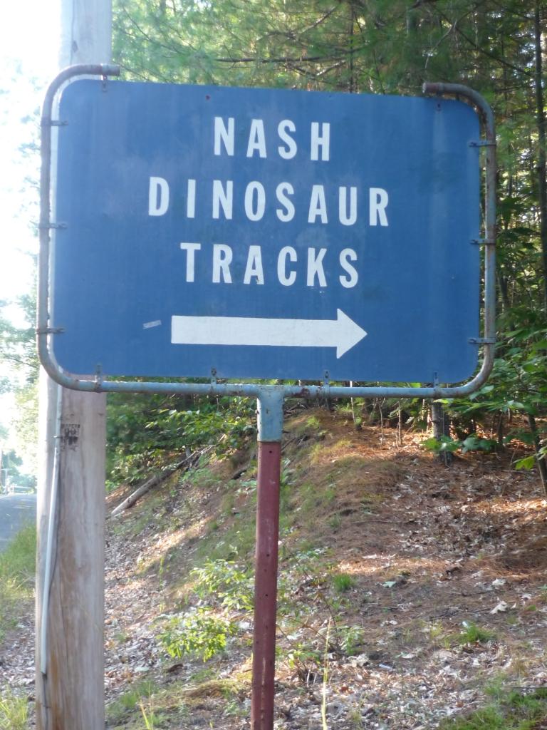 Nash Dinosaur Tracks sign