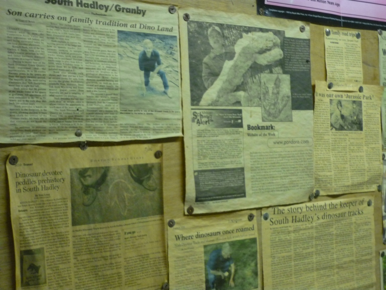 Nash - store newspaper articles on wall