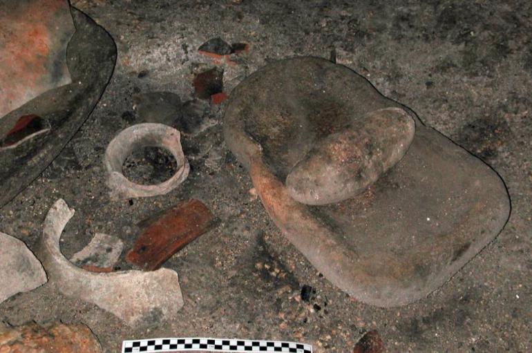 Ben Thomas - cave ceramics and metate