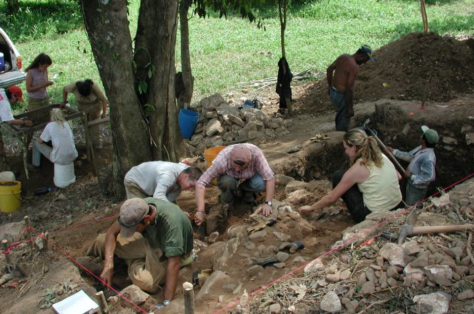 Ben Thomas - Excavation in progress at another site along the Sibun