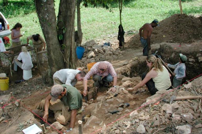 Ben Thomas - Excavation in progress at another site along the Sibun