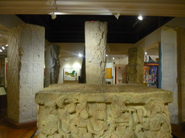 Peabody - Mayan stelae and altar Q